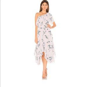 Misa - alexandra one shoulder floral ruffle dress